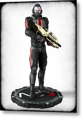 Mass Effect - N7 Soldier Metal Print by Frederico Borges