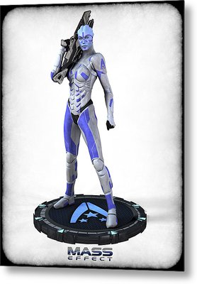 Mass Effect - Asari Alliance Soldier Metal Print by Frederico Borges
