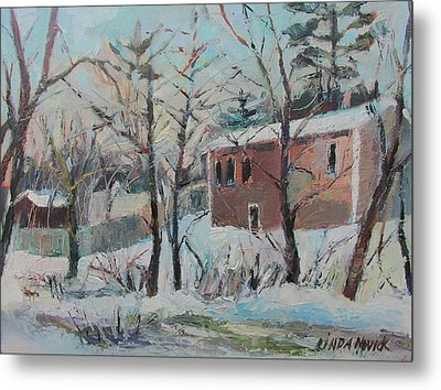 Massachusetts Snowfall Metal Print by Linda Novick