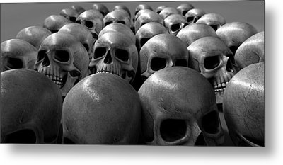 Massacre Of Skulls Metal Print by Allan Swart