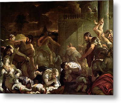Massacre Of The Innocents Metal Print by Luca Giordano
