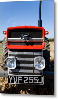Massey Ferguson 135 Vintage Tractor Metal Print by Paul Lilley