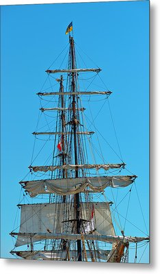 Mast And Ropes Metal Print by Marek Poplawski