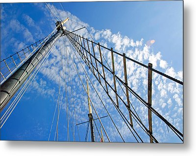Metal Print featuring the photograph Masted Sky by Keith Armstrong