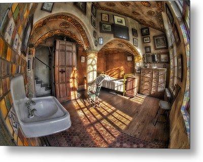 Master Bedroom At Fonthill Castle Metal Print by Susan Candelario