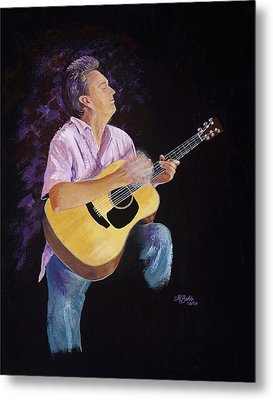Metal Print featuring the painting Master In The Spotlight by Margaret Bobb