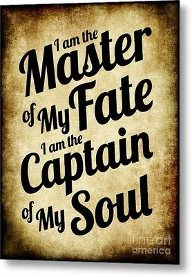 Master Of My Fate - Old Parchment Style Metal Print by Ginny Gaura