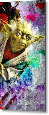 Master Yoda Metal Print by Daniel Janda