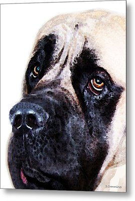 Mastiff Dog Art - Sad Eyes Metal Print by Sharon Cummings