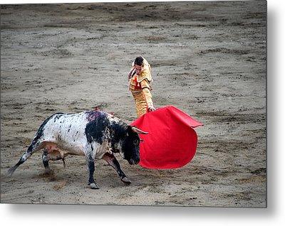 Matador And A Bull In A Bullring, Lima Metal Print