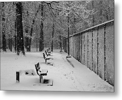 Metal Print featuring the photograph Match Called For Snow by Andy Lawless