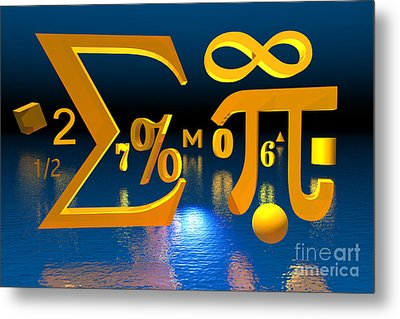 Mathematics Metal Print by Carol and Mike Werner