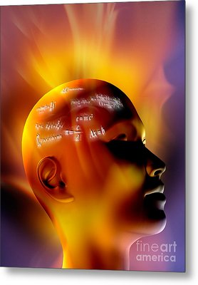 Mathematics Metal Print by Mike Agliolo