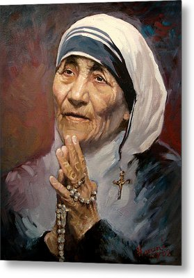Mather Teresa Metal Print by Ylli Haruni