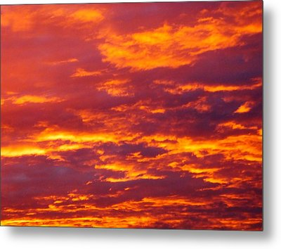 Matin De Feu Metal Print by Marc Philippe Joly