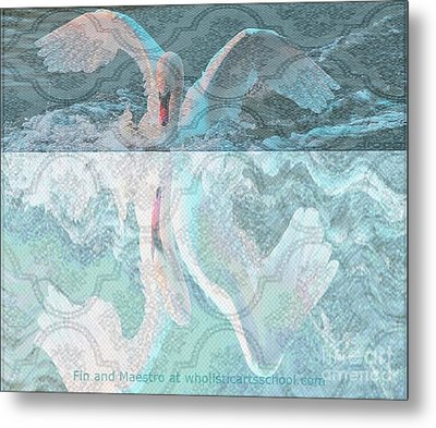 Mating Dance Of The Swan Metal Print by PainterArtist FIN