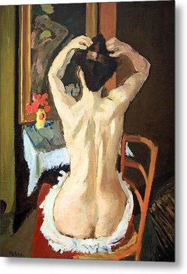 Matisse's La Coiffure Metal Print