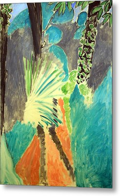 Matisse's Palm Leaf In Tangier Metal Print by Cora Wandel