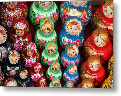 Matryoshka Dolls Metal Print