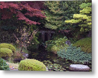 Metal Print featuring the photograph Matsue Garden by Cassandra Buckley