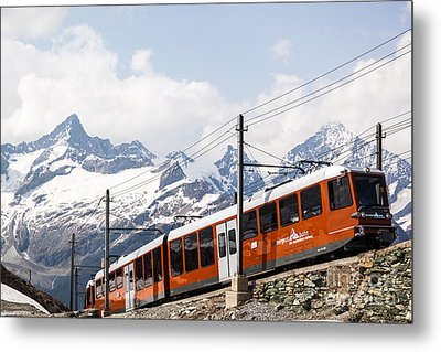 Matterhorn Railway Zermatt Switzerland Metal Print by Matteo Colombo