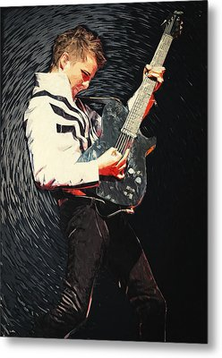 Matthew Bellamy Metal Print by Taylan Apukovska