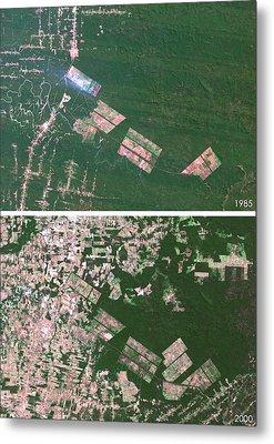 Matto Grosso Deforestation Metal Print