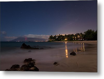 Maui By Night Metal Print by James Roemmling