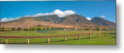 Metal Print featuring the photograph Maui Hawaii Mountains Near Kaanapali   by Lars Lentz