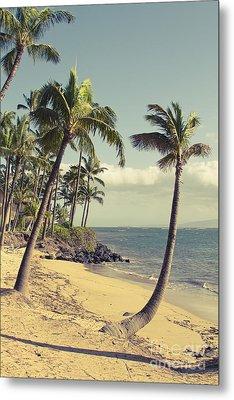 Maui Lu Beach Hawaii Metal Print by Sharon Mau