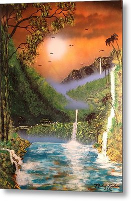 Metal Print featuring the painting Maui by Michael Rucker