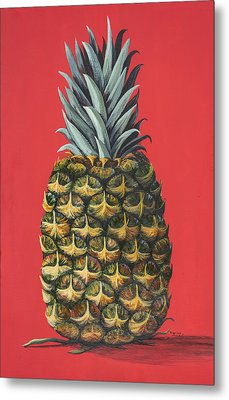 Maui Pineapple 2 Metal Print
