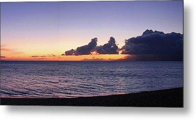 Metal Print featuring the photograph Maui Sunset Panorama by Harold Rau
