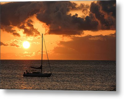 Metal Print featuring the photograph Maui Sunset by Shane Kelly