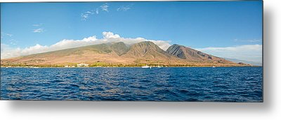 Metal Print featuring the photograph Maui's Southern Mountains   by Lars Lentz