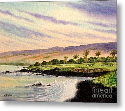 Mauna Kea Golf Course Hawaii Hole 3 Metal Print by Bill Holkham