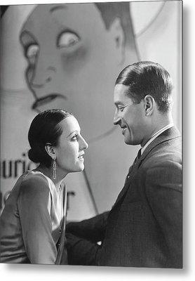 Maurice Chevalier And Yvonne Vallee Metal Print by George Hoyningen-Huen?