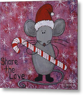 Max The Mouse Metal Print by Jane Chesnut