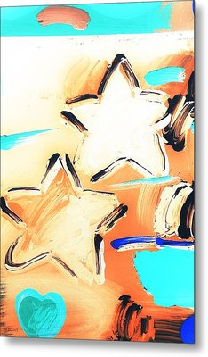 Max Two Stars In Inverted Colors Metal Print by Rob Hans