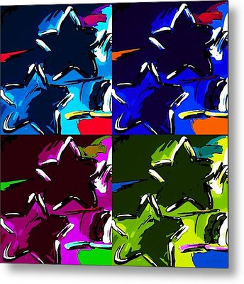 Max Two Stars In Pf Quad Colors Metal Print by Rob Hans