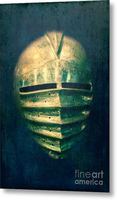 Maximilian Knights Armour Helmet Metal Print by Edward Fielding