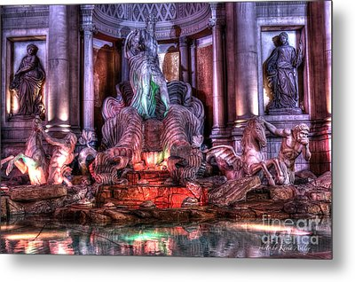 Trevi Fountain Metal Print by Kevin Ashley