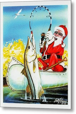May All Your Holiday Fishes Come True Metal Print by Steve Harris