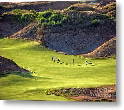 May I Play Through? - Chambers Bay Golf Course Metal Print by Chris Anderson