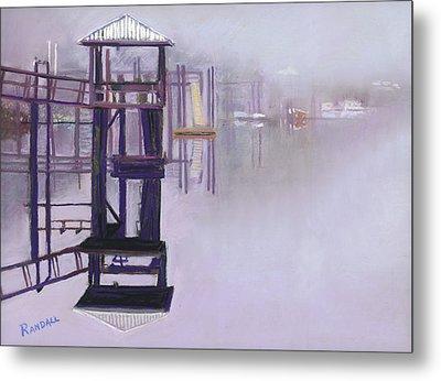 May River Fog Metal Print