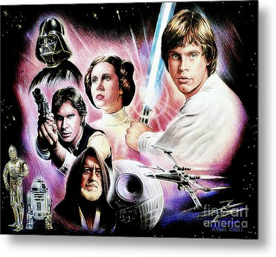 May The Force Be With You 2nd Version Metal Print by Andrew Read