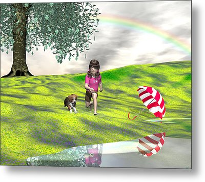 May You Jump In Puddles Metal Print by Michele Wilson