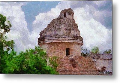 Mayan Observatory Metal Print by Jeff Kolker