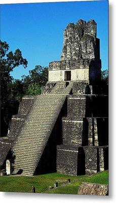 Mayan Ruins - Tikal Guatemala Metal Print