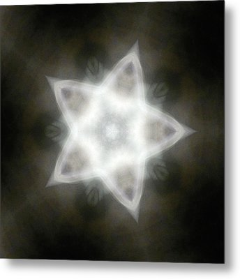Mayan Star Metal Print by Lisa Lipsett